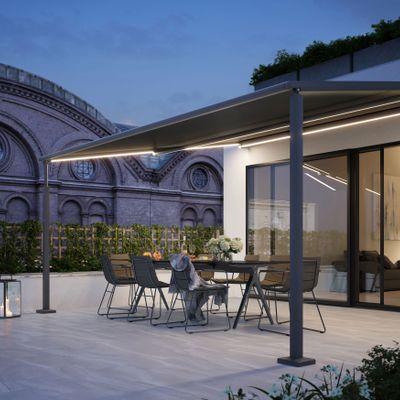 Pergolamarkise für kleine Terrassen und Balkone: markilux pergola compact